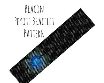 Beading Instructions, Beacon Wide Peyote Pattern, Digital PDF Pattern - Buy 4 get 1 FREE - Instant Download