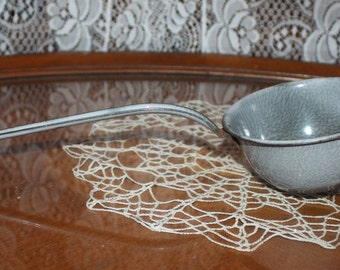 Vintage Enamelware Ladle Strainer
