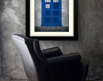 02-DRW Dr Who Tardis Minimalist Poster Print