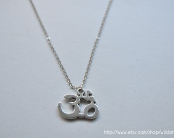 Silver Om Necklace ON SALE
