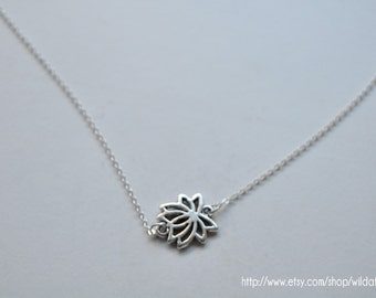 Silver Lotus Necklace ON SALE