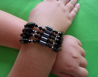 Vintage Black Magnetic Bracelet (Item 360)