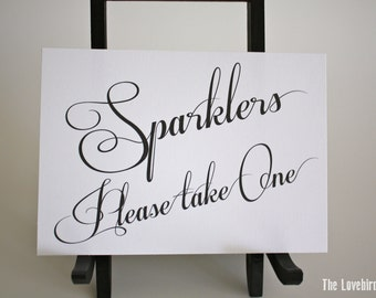 Wedding Sparkler Send-off Sign - Printable - Digital -Instant Download -  Elegant - Classic - AA3