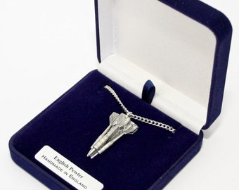 Set of Darts Necklace in Fine English Pewter, Handmade and Gift Boxed (ts)