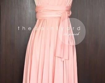 Peach wedding dress | Etsy