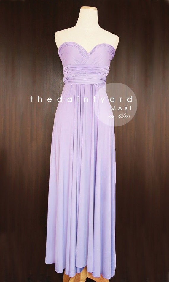 Maxi Lilac Bridesmaid Dress