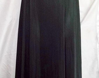 Vintage Lingerie 1970s HENSON KICKERNICK Black Nightgown and Robe Set 32 Nylon Chiffon
