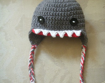Shark Ear-flap Beanie