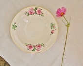 Vintage British Anchor Bowl 1940s Floral and Gilt Dish with Pink Roses with Gold Rim - FoundByHer
