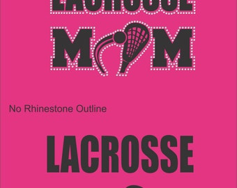 Lacrosse Mom Sweatshirt/ Lacrosse Sweatshirt/ Vinyl Rhinestone Lacrosse Mom Sweatshirt/ Lacrosse Gifts