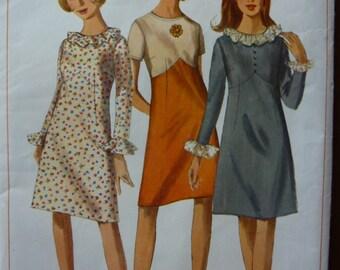 Vintage 1966 Dress Sewing Pattern Simplicity 6625