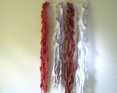 Ruffle Scarf - Upcycled and Handmade from a T-shirt