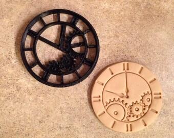 3D Printed steampunk watch clock cookie cutter