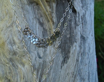 Sterling Silver Necklace with Aqua Sea Glass Pendant (C506)