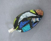 Dichroic Pendant, Patchwork Pendant, Necklace Slide, Dichroic Jewelry - McCarthy - 4015 -1