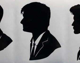 Ninth Tenth Or Eleventh Doctor Silhouette Decal