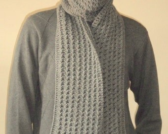 Crochet Mens Scarf : , gray scarf, wool scarf, mens scarf, crochet mens scarf, men scarves ...