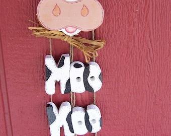 Handmade Cow sign