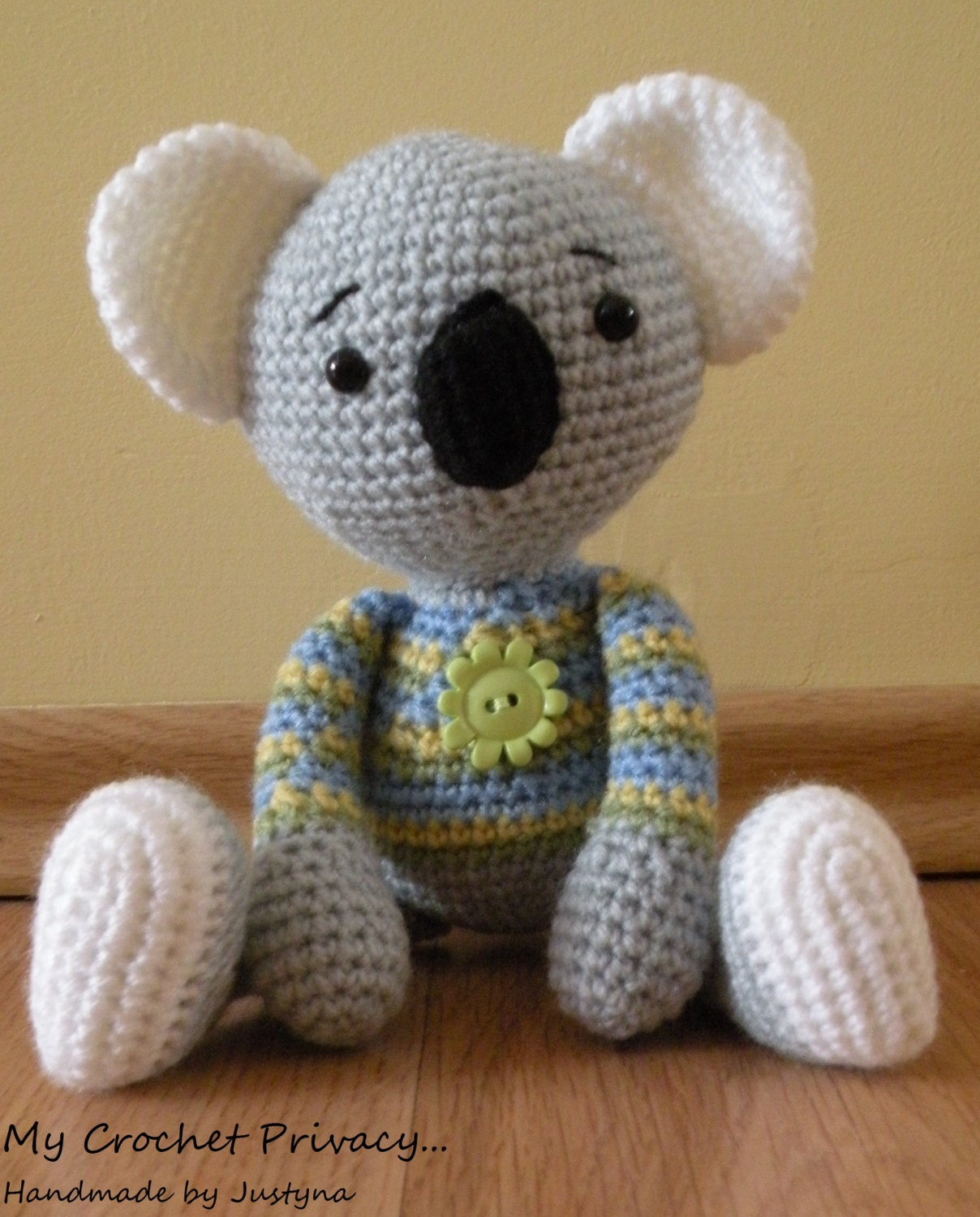 Amigurumi Koala Tutorial : Crochet pattern Bamboo the Koala