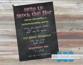 Stock the Bar Housewarming Party Invitation - Printable