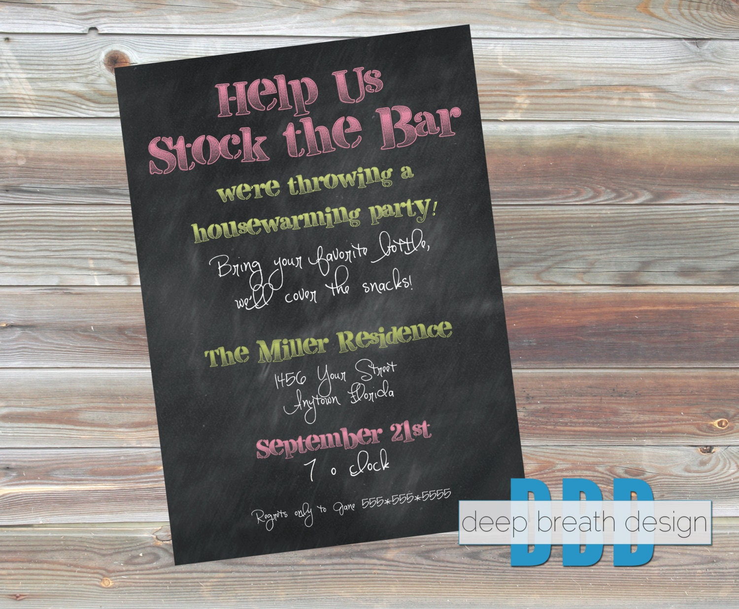 stock the bar housewarming party invitation by