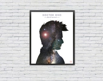 Doctor Who Poster /  David Tennant Silhouette Print