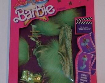 1988 MIB Barbie Super Star, Star on Ice Fashion by Mattel