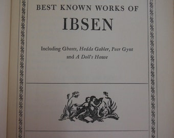 Vintage 1941 Ibsen Best Works Collection, Blue Ribbon Books