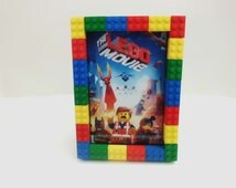 Lego® Picture Frame 4 x 6 or 5 x 7, Birthday Party Photo Frame, Family Picture Frame Legoland