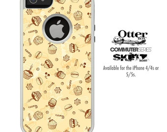 The Tan Treats Skin For The iPhone 4-4s or 5-5s Otterbox Commuter Case