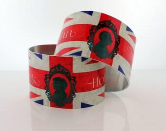 SHERLOCK   Friendship Metal Cuff Bracelet Set, Sherlock Holmes,Fan Jewelry, Great Gift