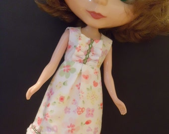 Blythe outfit Flower Print A-Line Dress