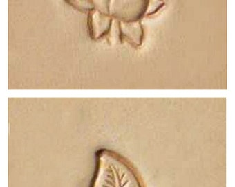 Rose and Leaf Leather Stamps