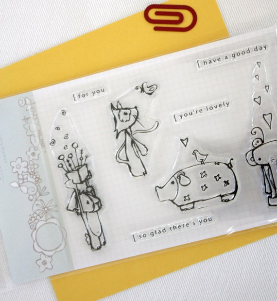 Little Gifts // Clear stamp set // scrapbooking & paper crafting // stamp set