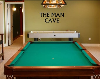 Man Cave Wall Decal - Man Cave Decal - Gift for Him - Man Cave Sign - Man Cave Decoration - Husband Gift - Garage Sign - Garage Decal - Man