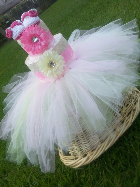 tutu diaper cake baby shower diaper cake baby shower decorations