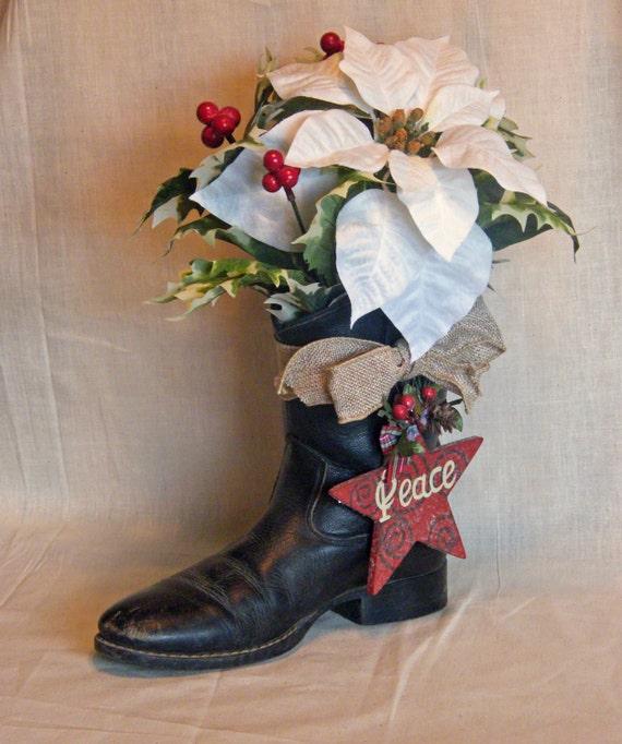 Cowboy Christmas Decor: Items Similar To Cowboy Boot Christmas Decoration