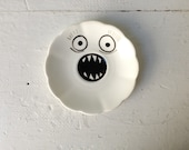 Candy Dish, Ring Plate, Trinket Dish - Ghost Face