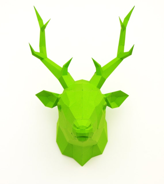Original Papercraft kit Deer, paper trophy