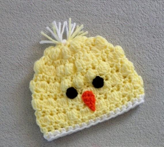 Newborn Crochet Chicken Hat Pattern : Items similar to Crochet Spring Chicken Hat for Newborn ...