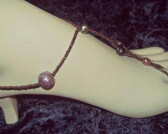 Barefoot Sandal ~ Purple Beach Barefoot Sandals