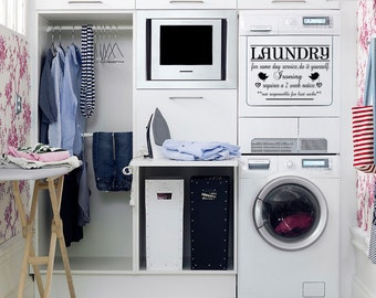 LAUNDRY - Vinyl removable wall decal sticker quote