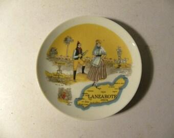 Vintage Lanzarote Plate.  **ON SALE**