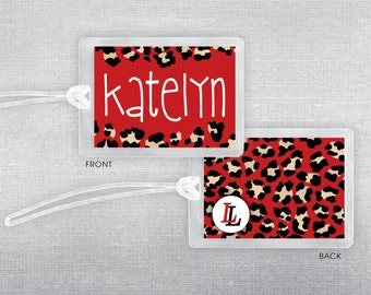 Leopard luggage tag. Lovejoy Leopards tag. Bag tag.
