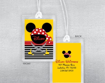 Disney luggage tag. Disney bag tag. Disney Princess luggage