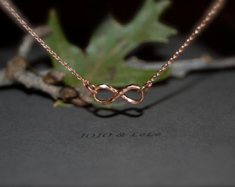 Infinity rose gold necklace, Rose gold necklace, rose gold forever necklace, fashion necklace