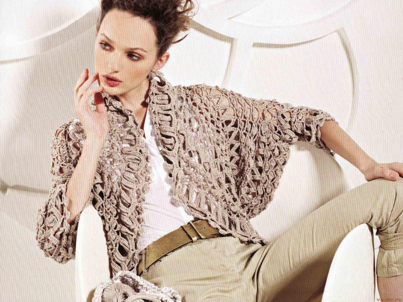 Crochet shrug pattern designer crochet jacket pattern for Designer bolero