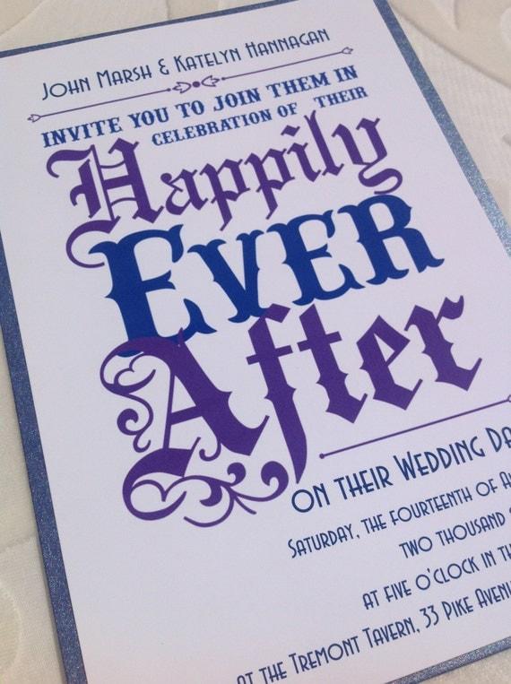 Items similar to Wedding Invitation - Fairy Tale Wedding ...  Items similar t...