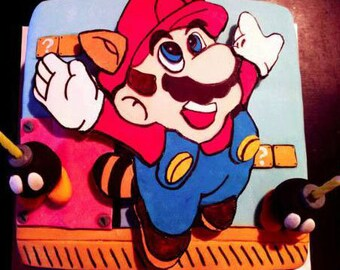 Old School Mario Brothers Inspired Cake Decorations