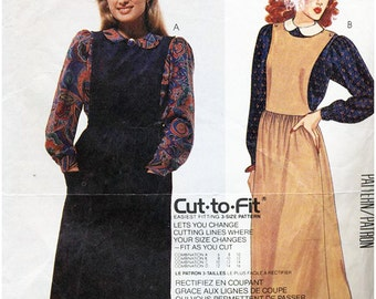 McCall's Sewing Pattern 2650 Easy Cut-to-Fit Misses Jumper & Blouse Size 10-12-14  Uncut